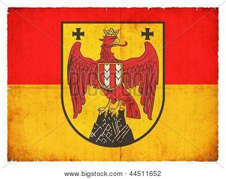 Grunge Flag Of Burgenland (austria)