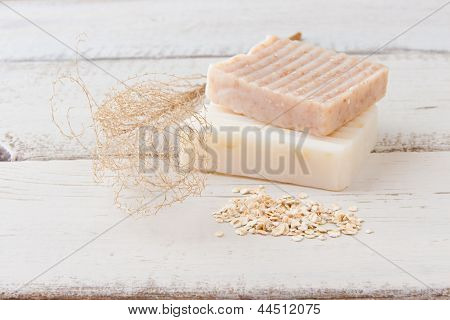 Natural Handmade Soap With Oats