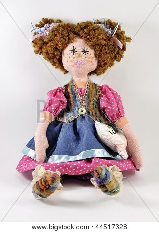 rag doll with red hair