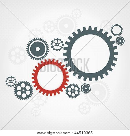 Background With Gear Wheels. Teamwork Concept.