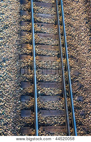 The railroad track