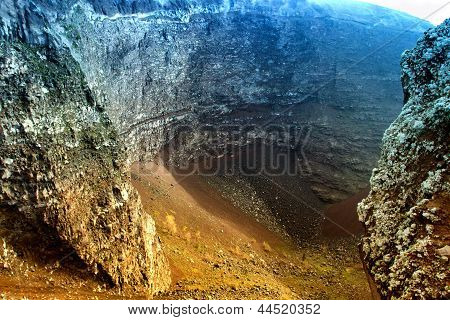 Vesuvio Volcano crater