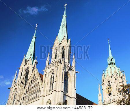 MUNICH, GERMANY. September 2012, St. Paul's Church