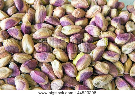 Shelled Pistachio Nuts Background