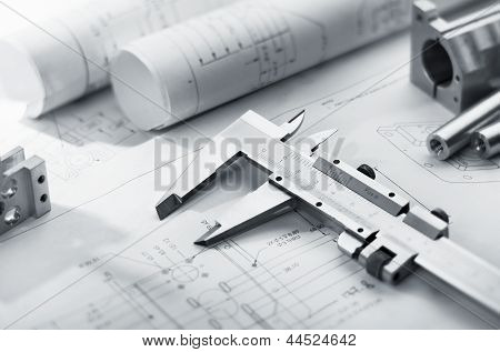 Caliper On Blueprint