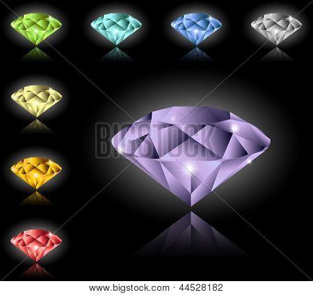 Jewels and diamonds set