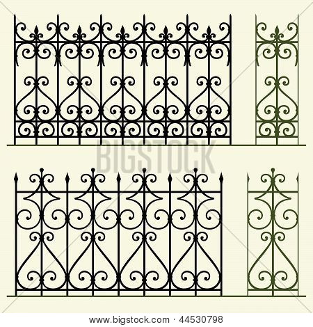 Iron railings and fences