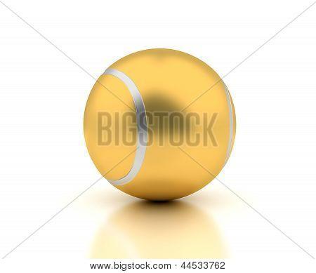 Golden Tennis Ball