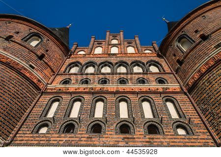 Holstentor Luebeck From Underneath