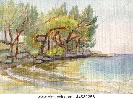 Das Meer in der Nähe von Antalia
