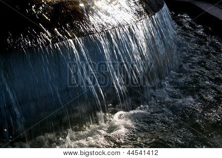 Flowing Fountain Water