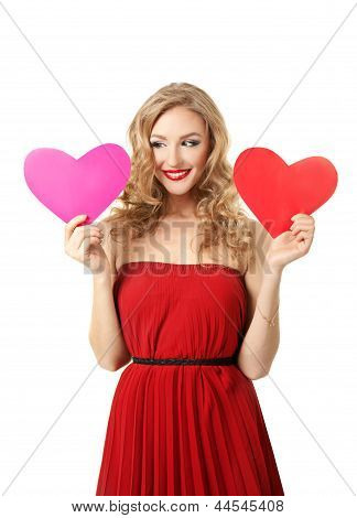 Girl with two hearts