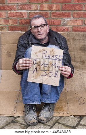 Homeless and Jobless man