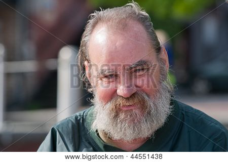Smiling Homeless Man