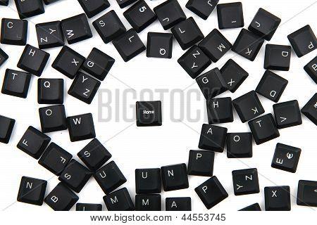 Keyboard Keys Background With Keybord Home