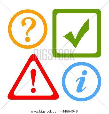 Vector alert icons