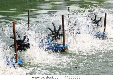Water Turbine Working In Pool