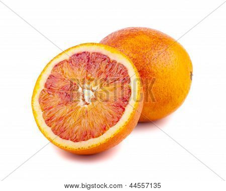 Half And Full Of Blood Red Oranges