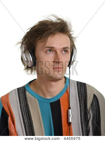 Young Men In Earphones