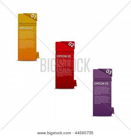 Vector vertical paper options