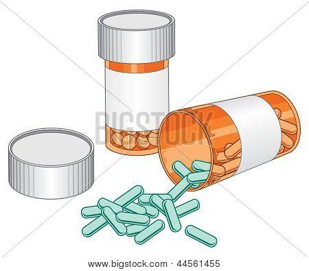 Pill Bottles-Prescription Drug
