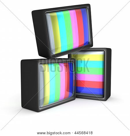 Teste de padrão de TV