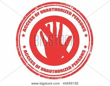 Access Of Unauthorized Persons Stamp
