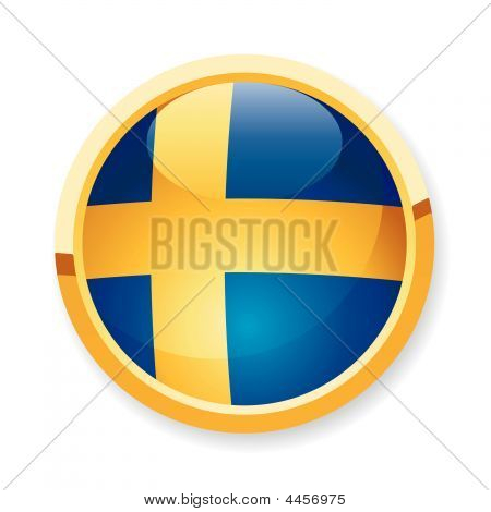 Schweden Flag Button