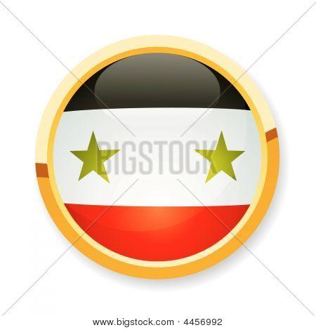 Syrian Flag Button