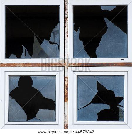 Broken Windows Of Old Building