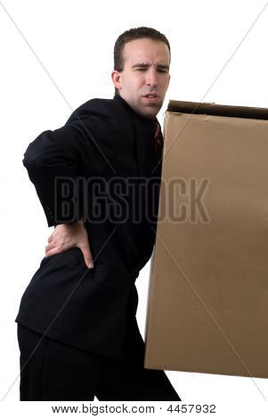 Businessman With Injured Back