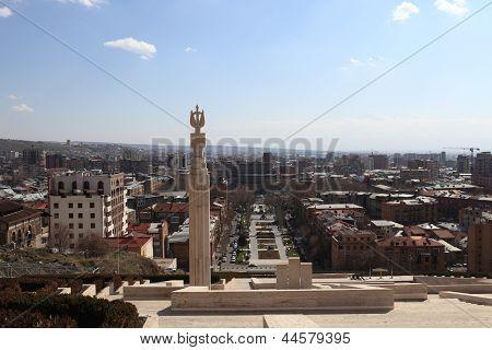 Pillar At Cascade And Yerevan