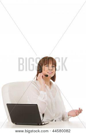 Attractive Call Centre Operator Or Receptionist