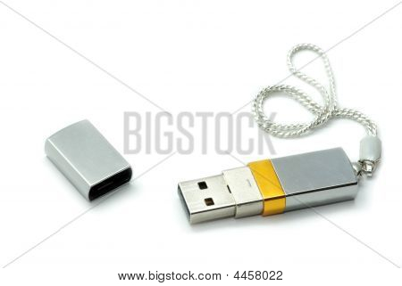 Silver Usb Flash