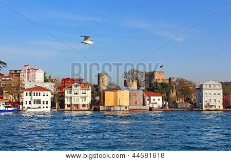Anadoluhisar? (anatolian Castle) And Asian Side Of Istanbul, Turkey