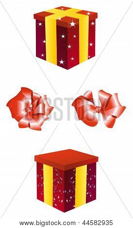 The set of presents boxes
