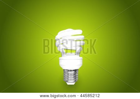 Compact fluorescent bulb in beautiful background (CFL)