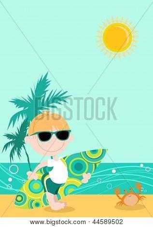 Surfer Boy Cartoon