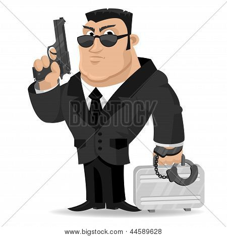 Agent keeps gun and suitcase