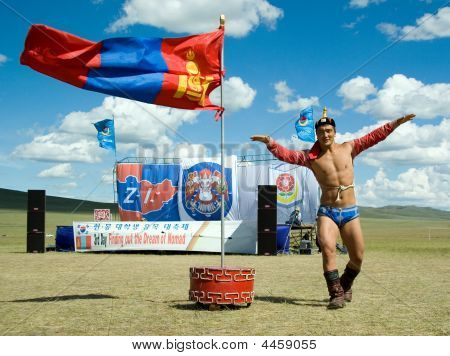 Victory Dance Of A Mongolian Wrestling Champion