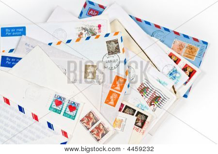 A Pile With Old Envelopes And Letters