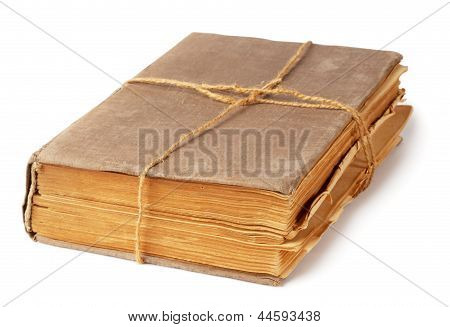 Old Book Tied With A Rope