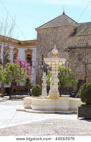 Spring In Plaza Mayor De Osuna, Spain