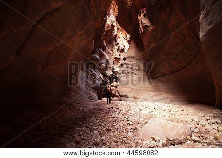 Buckskin Gulch Canyon Hiker