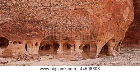 Eroded Sandstone Walls