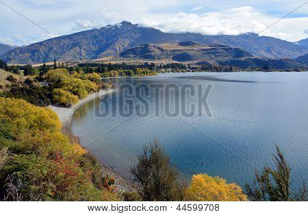 Glendhu Bay In Autumn, Otago New Zealand
