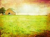 Old Barn In The Fields, Grungy