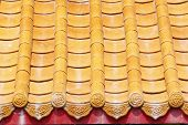 stock photo of zedong  - The Orange Tile roof of china style - JPG