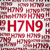 stock photo of avian flu  - H7N9 flu virus concepts new flu virus outbreak in china - JPG
