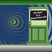 The door to a brand new life poster